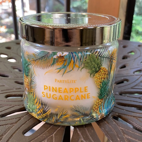 PartyLite Candle Pineapple Sugarcane